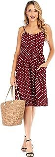 Women Summer Casual Strap Ruched Swing Sling Dress - Dot Print A-line Dresses Skirt