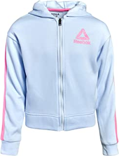 Reebok Girls Zip Up Fleece Sweatshirt Hoodie