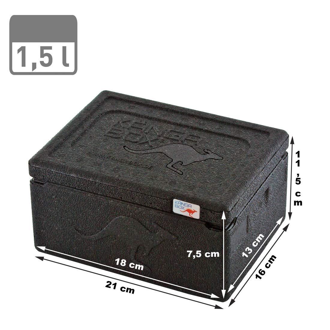 KängaBox Mini EX3075 - Caja térmica (15 L), mantiene el frío y el calor, (exterior 210 x 160 x 115 mm, interior 180 x 130 x 75 mm) rojo rojo: Amazon.es: Deportes y aire libre