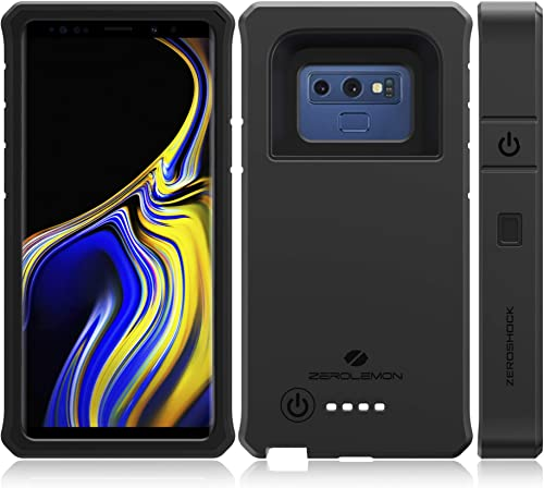 ZEROLEMON Galaxy Note 9 Battery Charging Case, ZeroShock 10000mAh Extended Rechargeable Battery Rugged Case with Full...