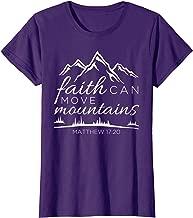 Womens Faith Can Move Mountains Shirt Women Christian Verse Gifts T