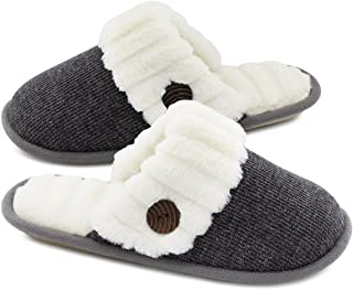 Women's Cute Comfy Fuzzy Knitted Memory Foam Slip On...