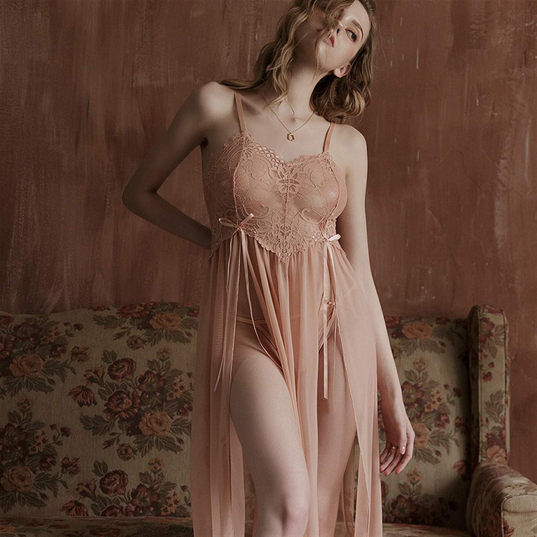 YZDKJ Womens Outlet sale feature Cheap sale Nightgown Sleepwear Long Mesh Split Perspective Hom