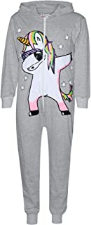 Kids Girls 100% Cotton Dabbing Unicorn A2Z Onesie One Piece All in One Jumpsuits