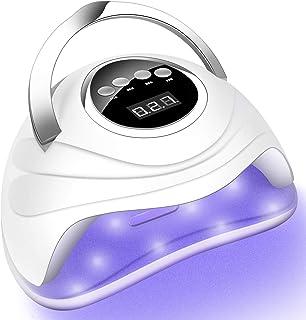 ناخن خشک کننده UV UV 168W ، لامپ ناخن UV سریعتر ژل لهستانی ، لامپ درمان LED LED ناخن ژل حرفه ای با دسته قابل حمل و صفحه لمسی برای استفاده در خانه در سالن