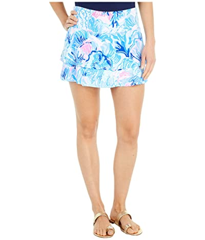 Lilly Pulitzer UPF 50+ Adlai Skort (Saltwater Blue Shade Seekers) Women