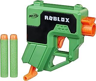 NERF Roblox Phantom Forces: Boxy Buster Dart Blaster, Pull-Down Priming Handle, 2 Elite Darts, Code to Unlock in-Game Virt...