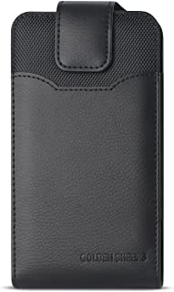 XXL SIZE Samsung Galaxy S6, S6 Edge, S5, HTC ONE M9 ,M8S, M8 Premium Vertical Leather Belt Clip Holster Pouch Case Cover (Fits with OTTER BOX Defender / LIFEPROOF / Mophie Juice Pack Air/Plus Case On)