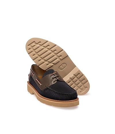 Bally Normann/36 Boat Shoe (Blue/Navy) Men
