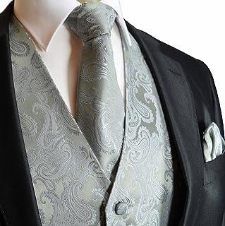 c50cd0fc65f Men s 3pc Paisley Vest NeckTie Pocket Square Set For Suit or Tuxedo