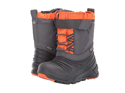 Merrell Kids Snow Quest Lite 2.0 Jr Waterproof (Toddler) (Grey/Orange) Boys Shoes