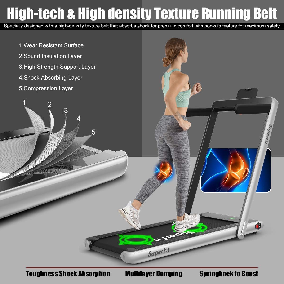 Goplus Treadmill Electric Installation Free Bluetooth