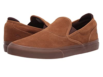 Emerica Wino G6 Slip-On (Brown/Brown/Gum) Men