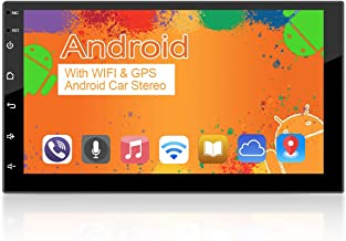 WZTO 7 Inch Double Din Android Car Stereo Multimedia Radio,GPS Navigation HD Touchscreen Receiver,Bluetooth,Audio,WiFi,iOS...