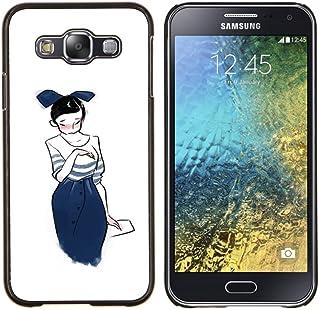 Jordan Colourful Shop - Japanese Girl Drawing Sketch Fashion Blue Bowtie for Samsung Galaxy E5 E500 - < Personnalis???? No...