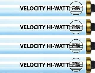 Wolff Velocity Hi-Watt F73 HO 100-120W RDC Tanning Lamp - Premium Bronzing Bulbs! (6)