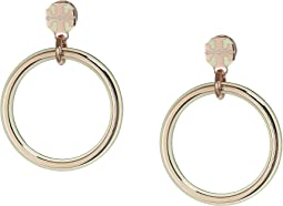 T-Stretch Logo Hoop Earrings