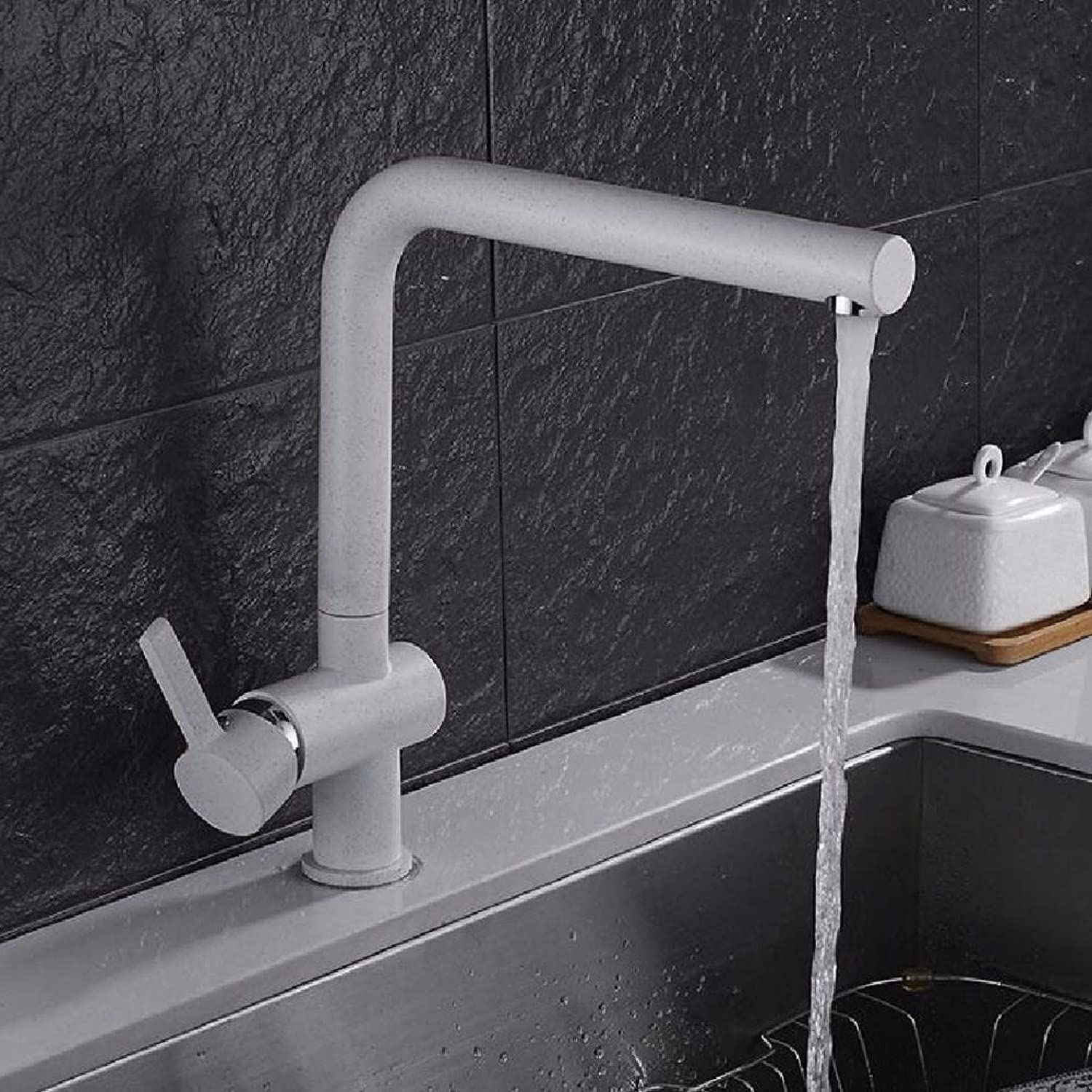 Commercial Single Lever Pull Down Kitchen Sink Faucet Brass Constructed Polished Kitchen Mixer Tap redatable Sink Sink Hot and Cold Faucet