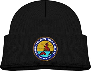 ADGoods Kids Children USS John S. McCain DDG-56 Beanie Hat Knitted Beanie Knit Beanie For Boys Girls Gorra de béisbol para...