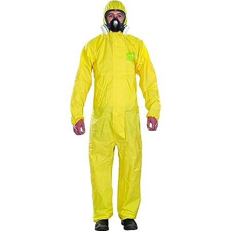 Ansell AlphaTec 2300 PLUS Tuta Integrale con Cappuccio, Resistente Chimiche, Industriali, Rischi Biologici e Fai-da-te, gialla, Taglia XXL (1 Unità)