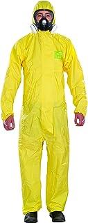 Ansell AlphaTec 2300 PLUS Mono de Trabajo con Capucha, Traje para Químicos, Usos Industriales, Biológicos y Bricolaje, Amarillo, Tamaño L (1 Unidad)