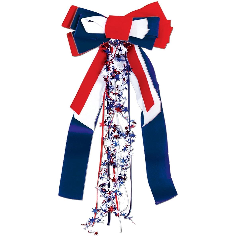 Patriots Pride Ribbon (red, white, blue) Party Accessory  (1 count) (1/Pkg)