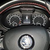 Keenso Auto Lenkrad Schaltwippen 2 Stücke Lenkrad Schaltpaddel Verlagerung Schaltwippen Für Cc Golf 6 B6 Mk5 Kohlefaser Auto