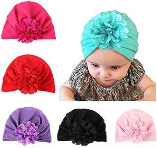 7 Pieces Adorable Baby Knot Headbands Newborn Elastic Sretch Head Wrap Baby Hat