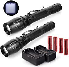 2x 800 Lumens Led Flashlight 18650 Cree T6 Xml+battery and Charger