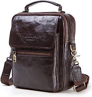 Contacts Mens Real Leather Mini iPad Tab Crossbody Shoulder Messenger Bag