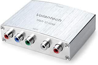 Volantech Component YPbPr RGB to HDMI 4K Converter V1.4 Support PS3, DVD, Xbox 360 to HDTV, Monitor and Projector