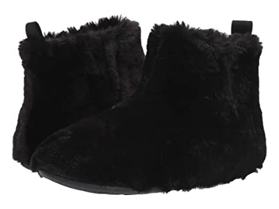 FitFlop Furry Slipper Bootie (All Black) Women