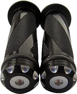 "MotorToGo Black CNC Aluminum Motorcycle 7/8"" 22mm Handlebar Gel Grips for 2011 Triumph Tiger 1050 ABS"