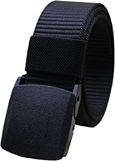 Bodhi2000 Men's Canvas Web Belt Military Style Waist Belt with Nylon Buckle