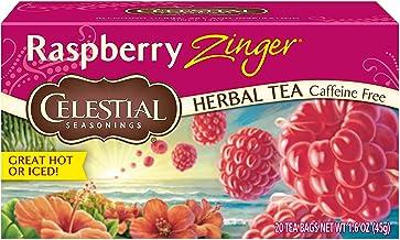 Celestial Seasonings Raspberry Zinger Herbal Tea, 20 Count (Pack of 6)