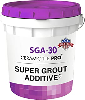 Best SGA 30 - Super Grout Additive Premium Waterproof Tile Grout Repair & Adhesive (Grout Sold Separately) Kit Includes Applicator - Mixing Cups & Sticks - Makes 90 oz Epoxy Grout - Made in USA Review
