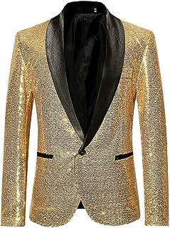 Men Wedding Blazer Suit Jacket Sequin Stylish Solid Suit Blazer Business Party Outwear Jacket Tops Blouse Goosun Formal Di...