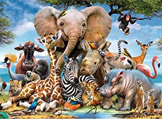 little tigger 1000 Piece Jigsaw Puzzles for Adults Kids - Animal World Jigsaw Puzzles for Adults 1000 DIY Toys