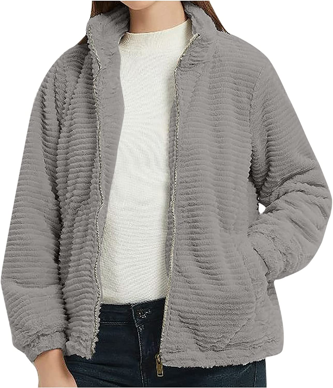 Fashion Jacket Coat Women's Casual Long Sleeve Solid Zipper Ladies Sweatshirt Tops Coat