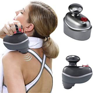 Cordless and Handheld Percussion Sport Massager, Rechargeable, Waterproof and Powerful Full Body Massager for Muscle