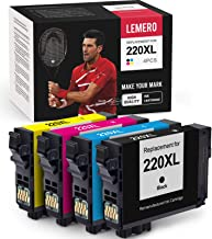 LEMERO Remanufactured Ink Cartridge Replacement for Epson 220 220XL - for Epson Workforce WF-2750 WF-2760 WF-2630 WF-2650 ...