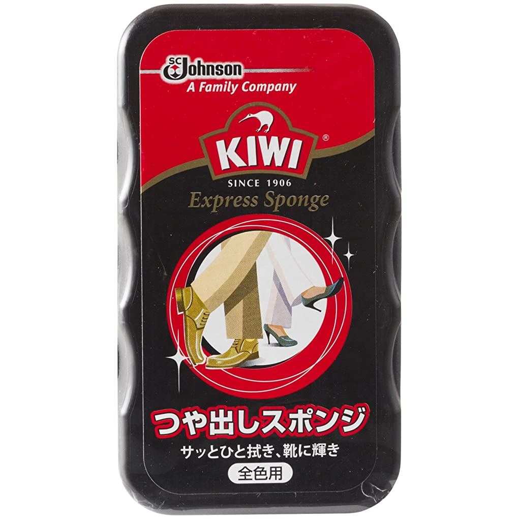 ハンドブック何十人もサーカスKIWI(キィウィ) 革用つや出し剤 エクスプレスつや出しスポンジ 全色用 7ml