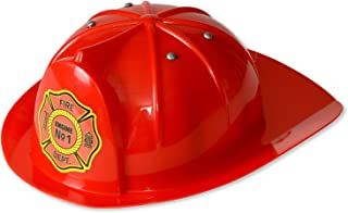 Kangaroo Kid's Fireman Hat; Red Firefighter Hat, Red, Size One Size