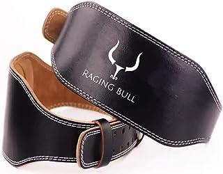 Raging Bull Cinturon Lumbar Gimnasio Hombre y Mujer, para Pesas Musculacion, Halterofilia, Levantamiento de Peso. Cinturón lastre dominadas powelifting Belt Gym Fitness Crossfit