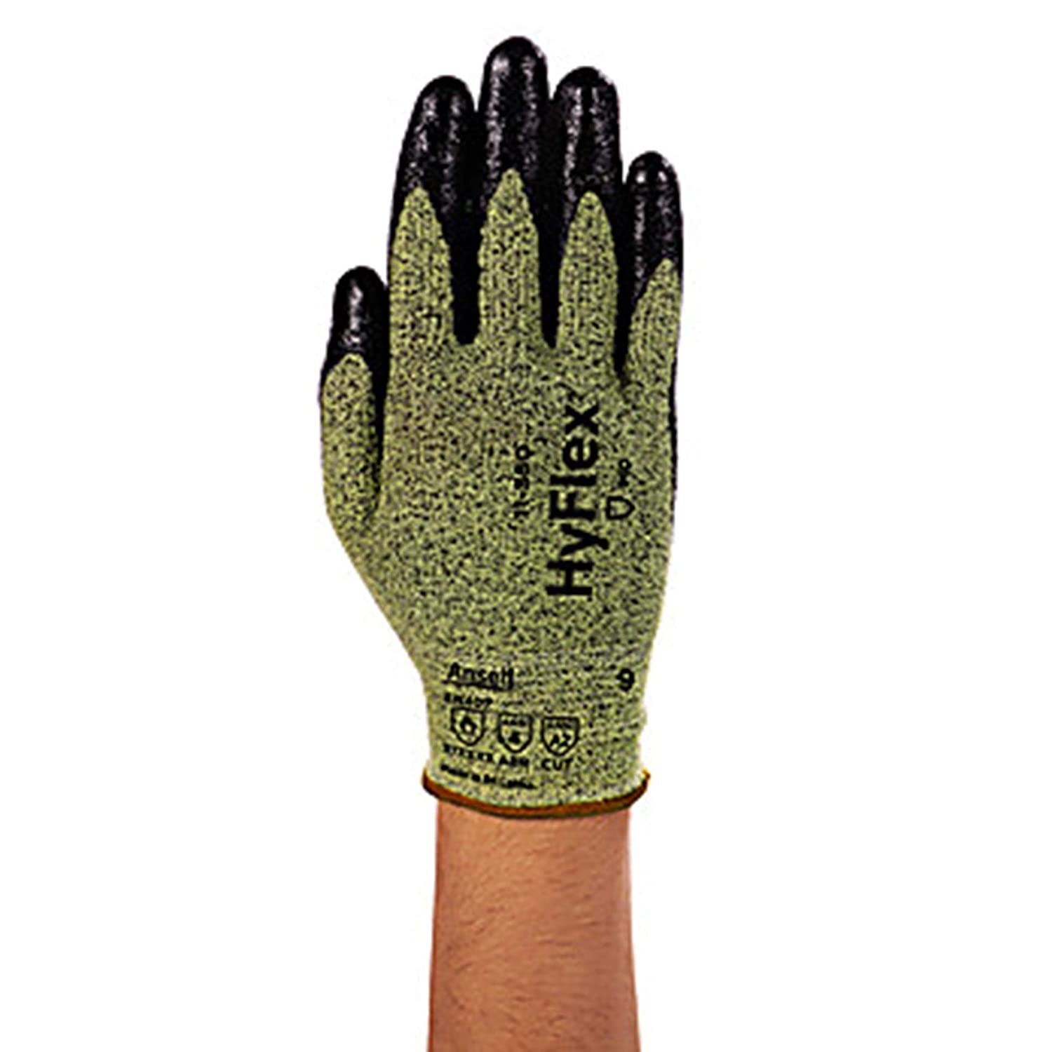 Ansell Over item handling ☆ 11550060 HyFlex Medium Duty Glove Palm Manufacturer OFFicial shop Co Cut-Protection