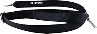 EZ-Xtend Boat Zipper Premium Double Bimini Top Strap with Hooks Adjustable All Stainless Steel Bimini Top Hardware, Heavy Duty - in Black Or White - Package of 1