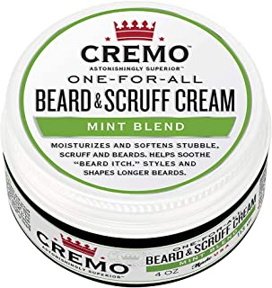 Cremo One-for-All Beard & Scruff Cream, Mint Blend, 4 Ounce (Pack of 2)