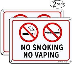 (2 Pack) MUXYH No Smoking No Vaping Sign, 10