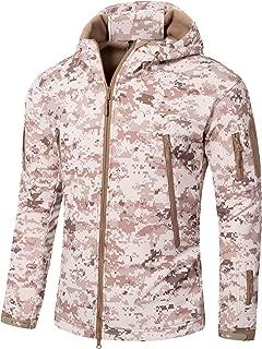 Men Softshell Tactical Military Fleece Lined Jacket with Hood