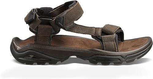 Teva Men's Terra FI 4 Leather Sandal, Turkish Coffee, 10.5 Medium US